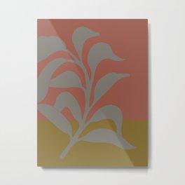 Lazy leaf 2 bolt print Metal Print