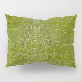 Lime Green Alligator Leather Print  Pillow Sham