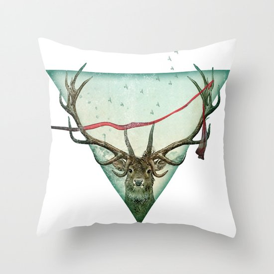 scarlet runner Throw Pillow