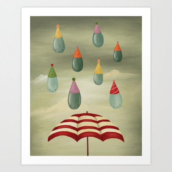 Rain Party Art Print