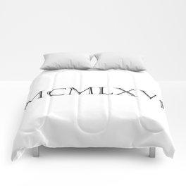Roman Numerals - 1966 Comforters