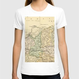 Vintage Map of The North Of China T-shirt