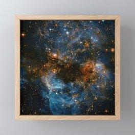 Galaxy Storm Framed Mini Art Print
