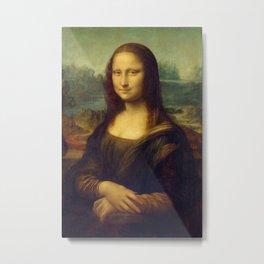Mona Lisa by Leonardo da Vinci Metal Print