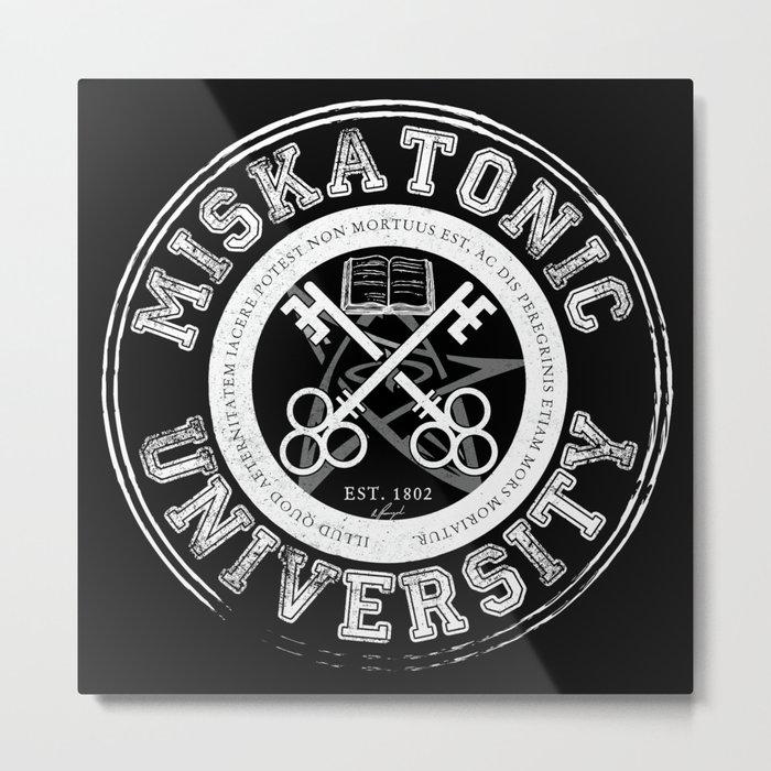 Miskatonic University Emblem (Dark version) Metal Print