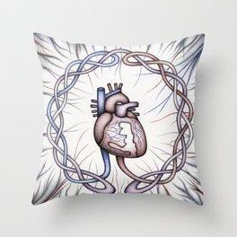 Aorta Mandala Throw Pillow