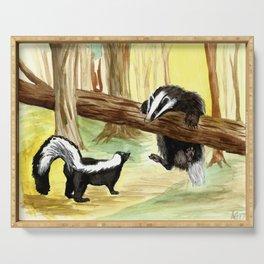 Skunk & Badger Serving Tray