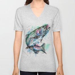 Rainbow Trout Unisex V-Neck
