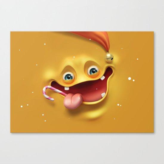 Christmas mad face Canvas Print