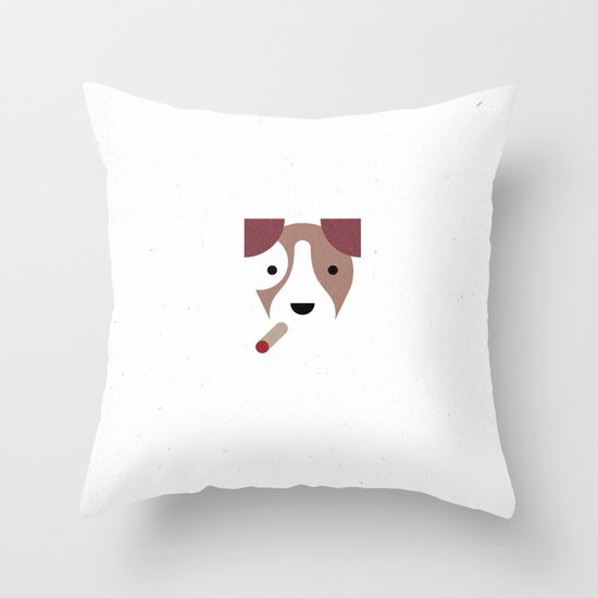 Pedigree: Jack Russell Throw Pillow