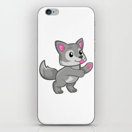 Cartoon Baby Wolf iPhone Skin