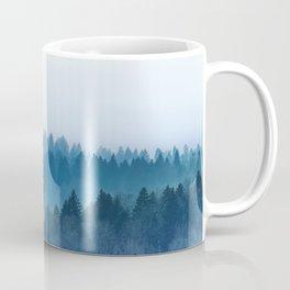 Foggy Blue Pine Forest Coffee Mug