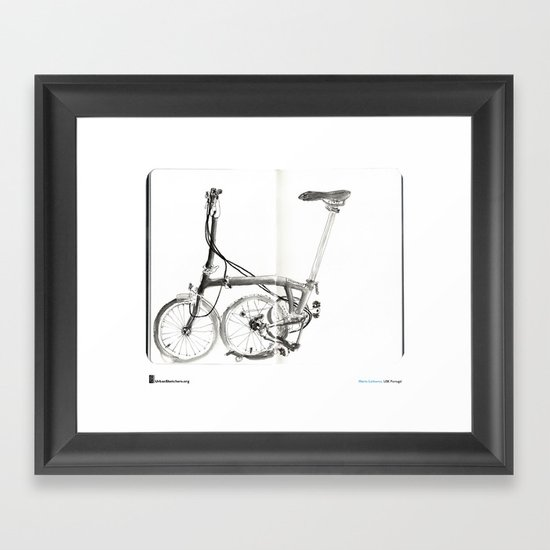 "Mário Linhares, ""Brompton Bicycle"" Framed Art Print"