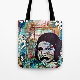Life Can Be Hard. So Put on a Moustache and Love One Another. Tote Bag