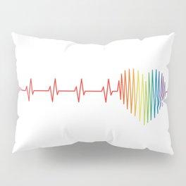 Heart Skips: White Pillow Sham