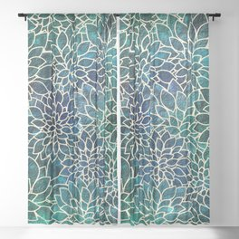 Floral Abstract 4 Sheer Curtain