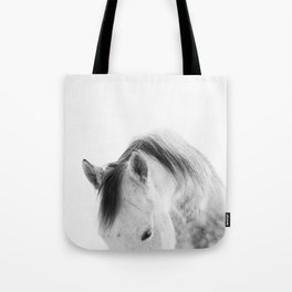 Modern Photography White Horse Tote Bag