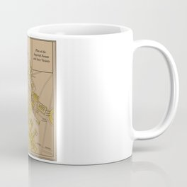 Historic Plan of the Imperial Forum Rome Map Coffee Mug