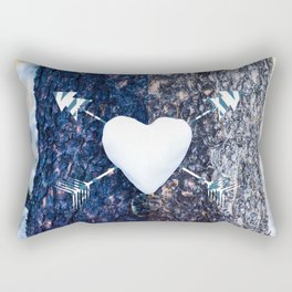 Snow Heart Rectangular Pillow