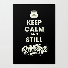 Keep Bombing Canvas Print