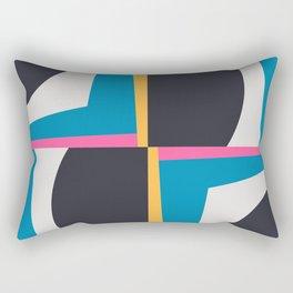 Modern Geometric 65 Blue Rectangular Pillow