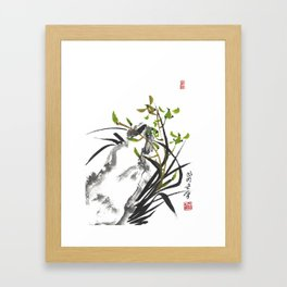 Green Orchid One Framed Art Print