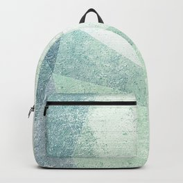 Frozen Geometry - Teal & Turquoise Backpack