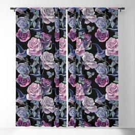 Dark flowers Blackout Curtain