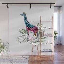 Happy Spring Giraffe Wall Mural