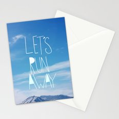 Let's Run Away: Mount Rainier Stationery Cards