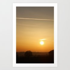 Somerset Sunset Art Print
