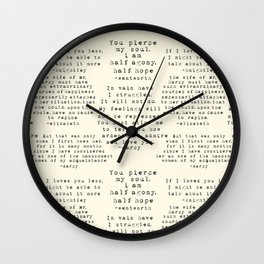 Passion of Jane Austen - Cream Wall Clock