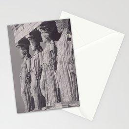 Caryatids of the Erechtheion, ancient greek, Athens agora, Erectheum, Greece photo,  Acropolis of Athens Stationery Cards