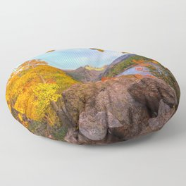 Fall In The Rocky Mountains Floor Pillow