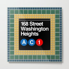 subway washington heights sign Metal Print
