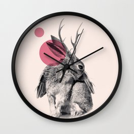 wild heart Wall Clock