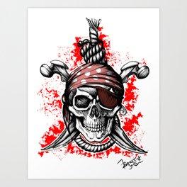 *** Ltd Edition: skull t-shirt Art Print