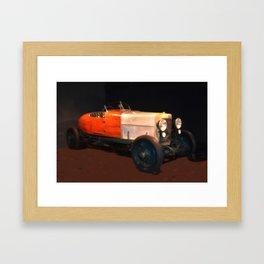 Vintage Italian Roadster (Jul16) Framed Art Print