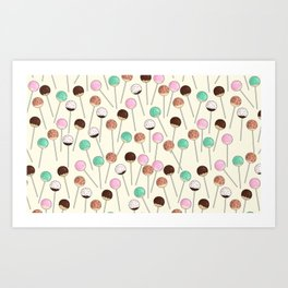 Cake Pop Pattern Art Print