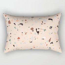 Pink terrazzo mosaic Rectangular Pillow