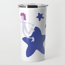 Reach for the Stars - Blue Travel Mug