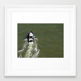 Boat in Bay Framed Art Print