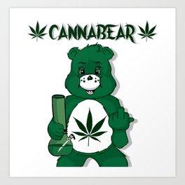 CannaBear Art Print