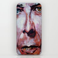 david bowie iPhone & iPod Skins featuring Bowie by Ray Stephenson