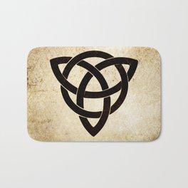 Celtic knot on old paper Bath Mat