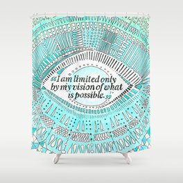 Positive affirmation, mindfulness quote, hand-drawn lettering, yoga art, yoga drawing, motivation Shower Curtain