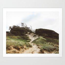 Trails Going Up Art Print