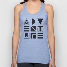 Geometric Adventure B&W Unisex Tank Top