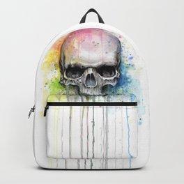 Skull Rainbow Watercolor Backpack