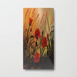 Red Poppies 8 Metal Print